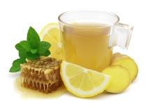 Tea with ginger lemon and honey